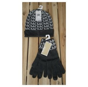 Michael Kors beanie & gloves